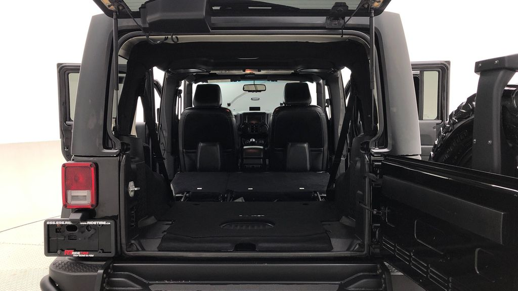 Black[Black] 2016 Jeep Wrangler Unlimited Back Country - Manual, Leather, NAV Rear Seat: Cargo/Storage Photo in Winnipeg MB