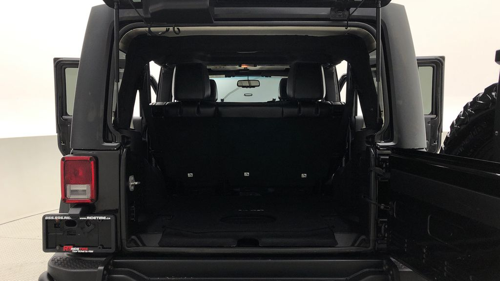 Black[Black] 2016 Jeep Wrangler Unlimited Back Country - Manual, Leather, NAV Trunk / Cargo Area Photo in Winnipeg MB