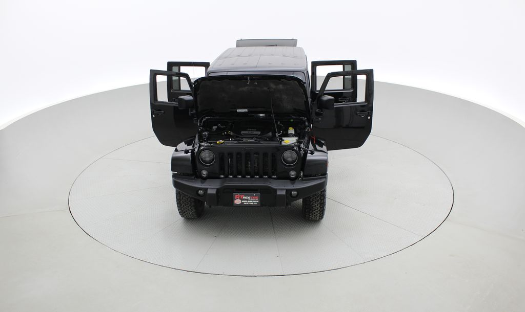 Black[Black] 2016 Jeep Wrangler Unlimited Back Country - Manual, Leather, NAV Front Vehicle Photo in Winnipeg MB