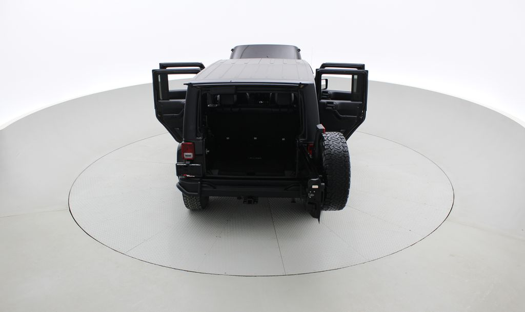 Black[Black] 2016 Jeep Wrangler Unlimited Back Country - Manual, Leather, NAV Rear of Vehicle Photo in Winnipeg MB