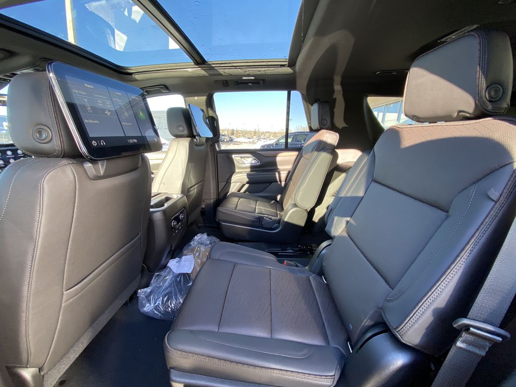 Black[Black] 2021 Chevrolet Tahoe High Country Left Side Rear Seat  Photo in Calgary AB