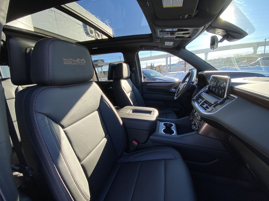 Black[Black] 2021 Chevrolet Tahoe High Country Right Side Front Seat  Photo in Calgary AB
