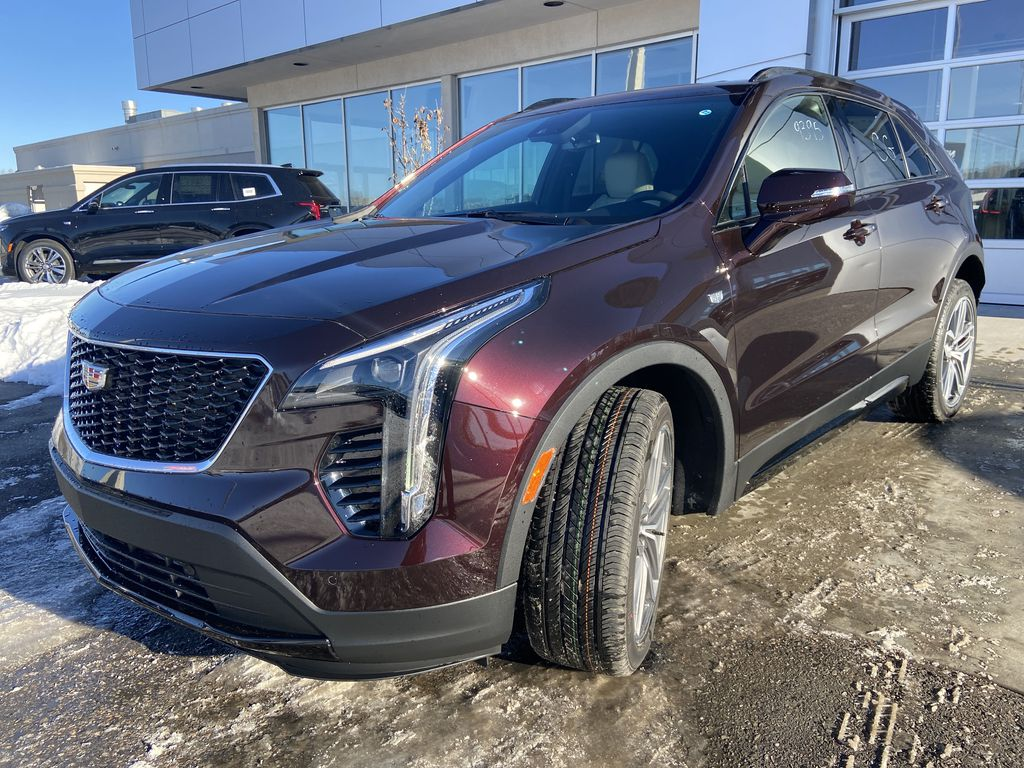 Red[Garnet Metallic] 2021 Cadillac XT4 Sport Left Front Head Light / Bumper and Grill in Calgary AB