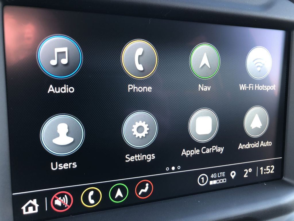 Black[Black] 2021 Chevrolet Silverado 1500 Radio Controls Closeup Photo in Edmonton AB