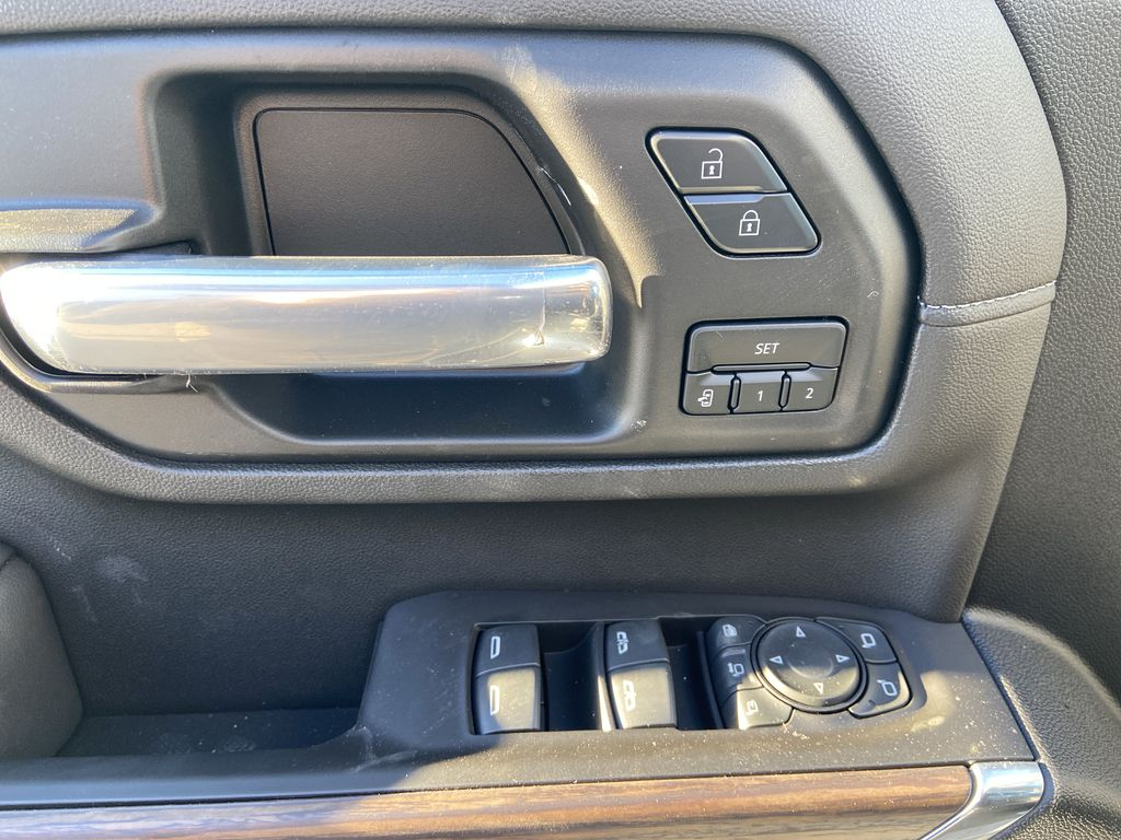 White[Iridescent Pearl Tricoat] 2021 Chevrolet Silverado 3500HD High Country  Driver's Side Door Controls Photo in Calgary AB