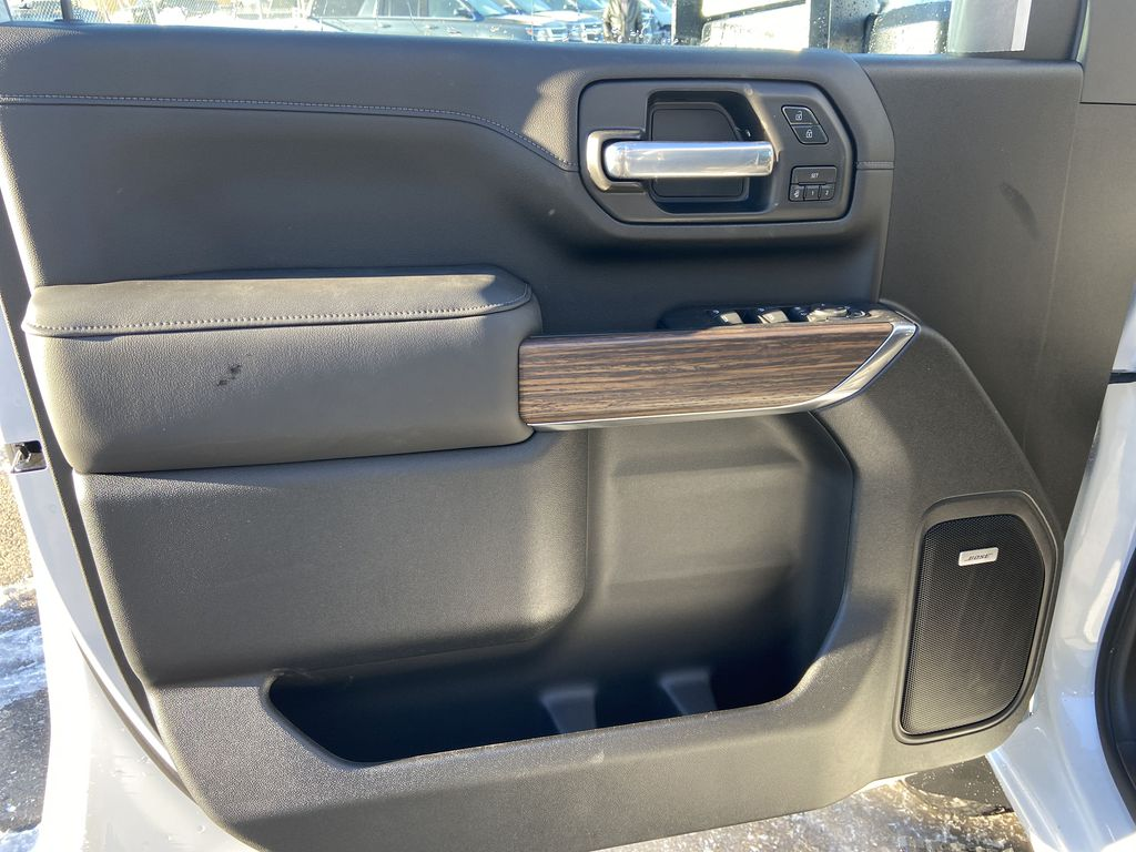 White[Iridescent Pearl Tricoat] 2021 Chevrolet Silverado 3500HD High Country Left Front Interior Door Panel Photo in Calgary AB