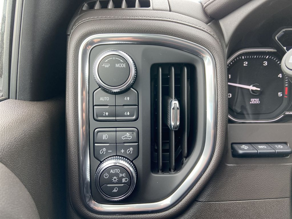 White[White Frost Tricoat] 2021 GMC Sierra 3500HD Denali Center Console Photo in Calgary AB