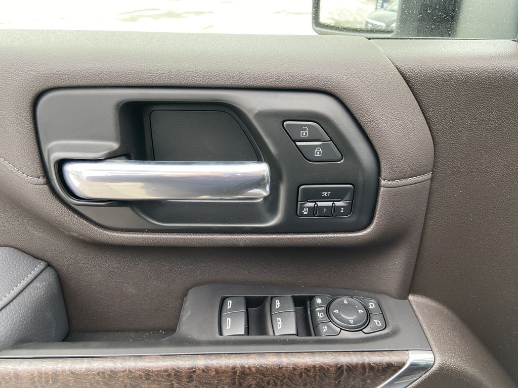 White[White Frost Tricoat] 2021 GMC Sierra 3500HD Denali  Driver's Side Door Controls Photo in Calgary AB