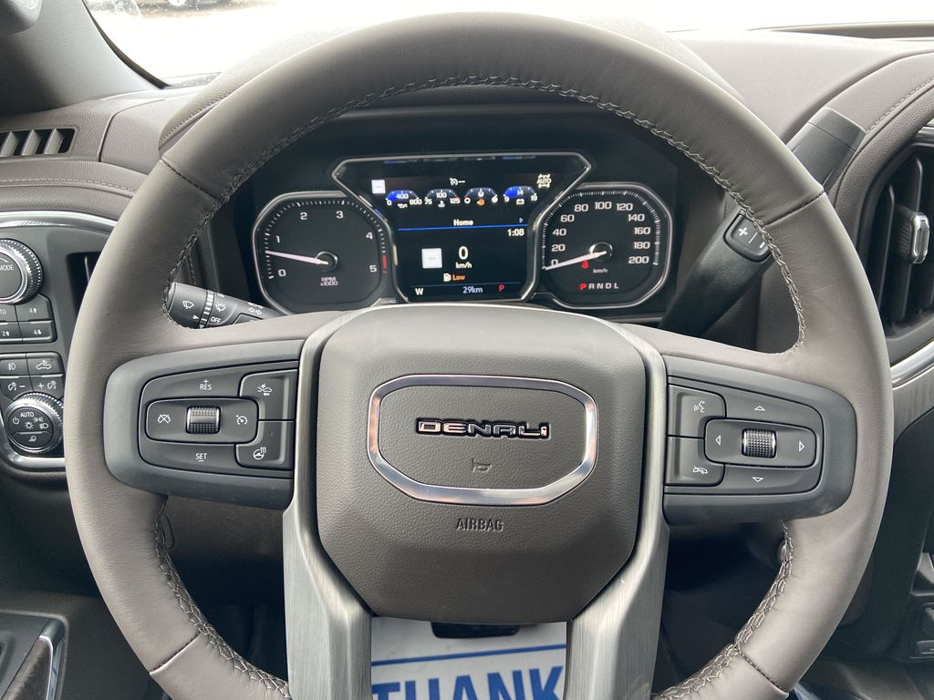 White[White Frost Tricoat] 2021 GMC Sierra 3500HD Denali Steering Wheel and Dash Photo in Calgary AB