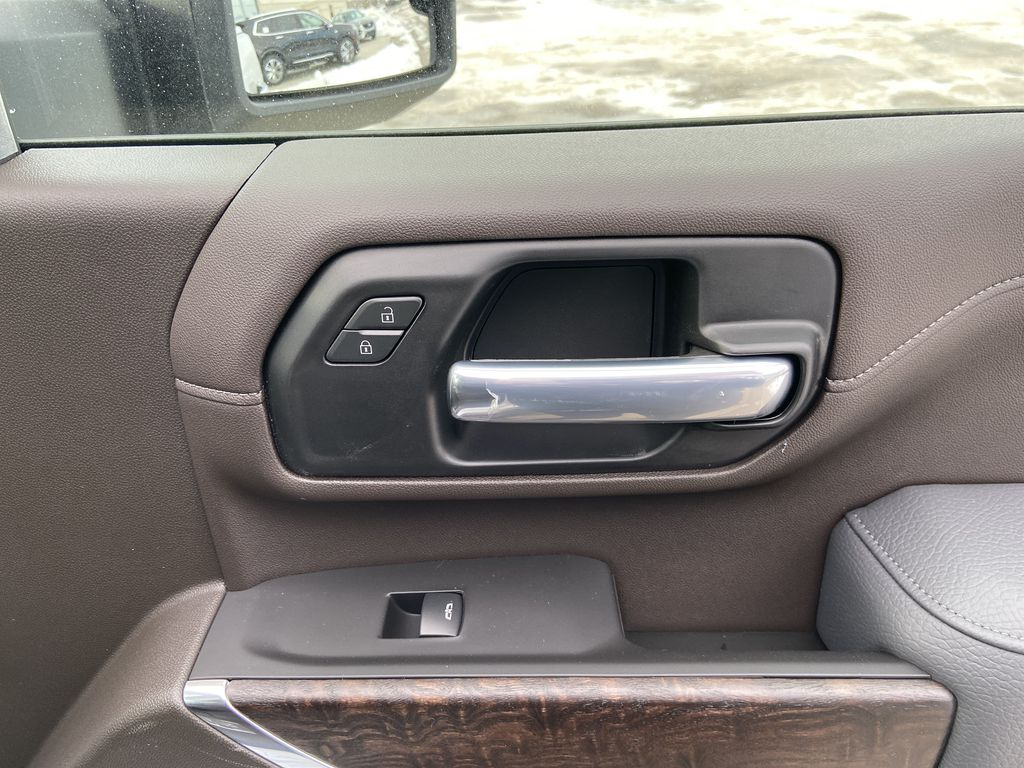 White[White Frost Tricoat] 2021 GMC Sierra 3500HD Denali Passenger Front Door Controls Photo in Calgary AB
