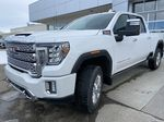 White[White Frost Tricoat] 2021 GMC Sierra 3500HD Denali Left Front Head Light / Bumper and Grill in Calgary AB