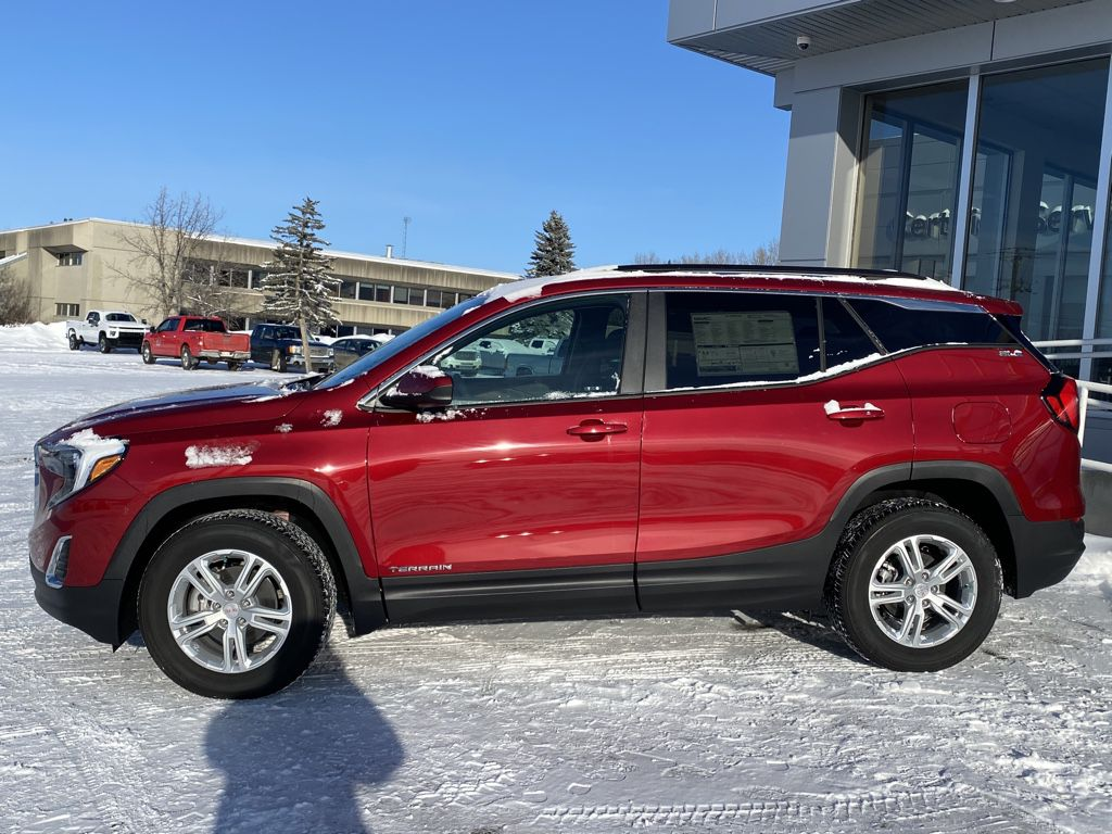 Red 2021 GMC Terrain Left Front Rim and Tire Photo in Barrhead AB