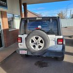 White 2018 Jeep Wrangler Unlimited Left Front Rim and Tire Photo in Fort Macleod AB