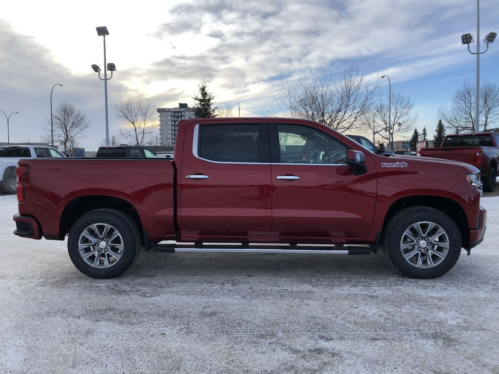 Red[Cherry Red Tintcoat] 2021 Chevrolet Silverado 1500 Right Side Photo in Edmonton AB
