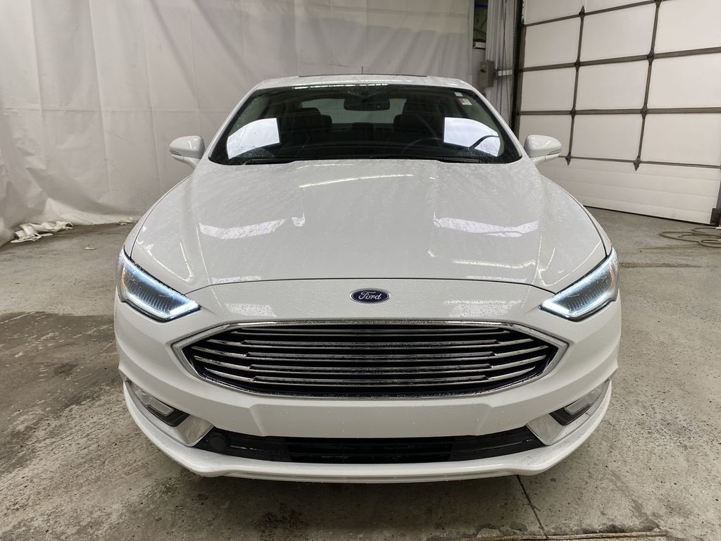 White[Oxford White] 2017 Ford Fusion Front Vehicle Photo in Dartmouth NS