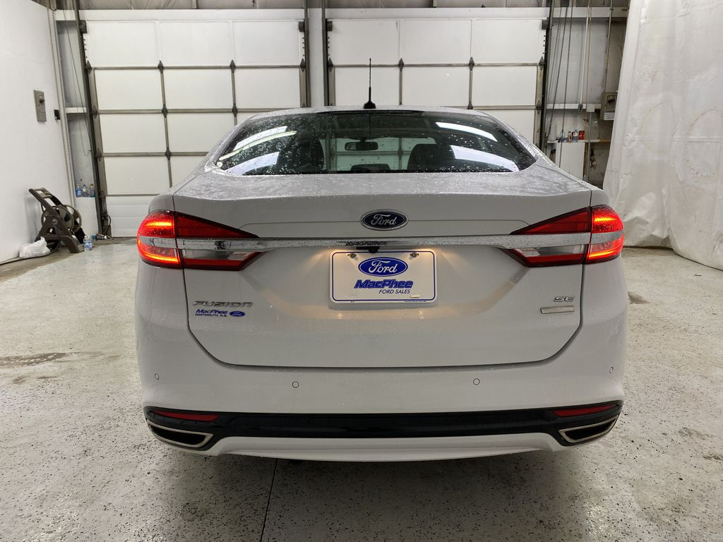 White[Oxford White] 2017 Ford Fusion Rear of Vehicle Photo in Dartmouth NS
