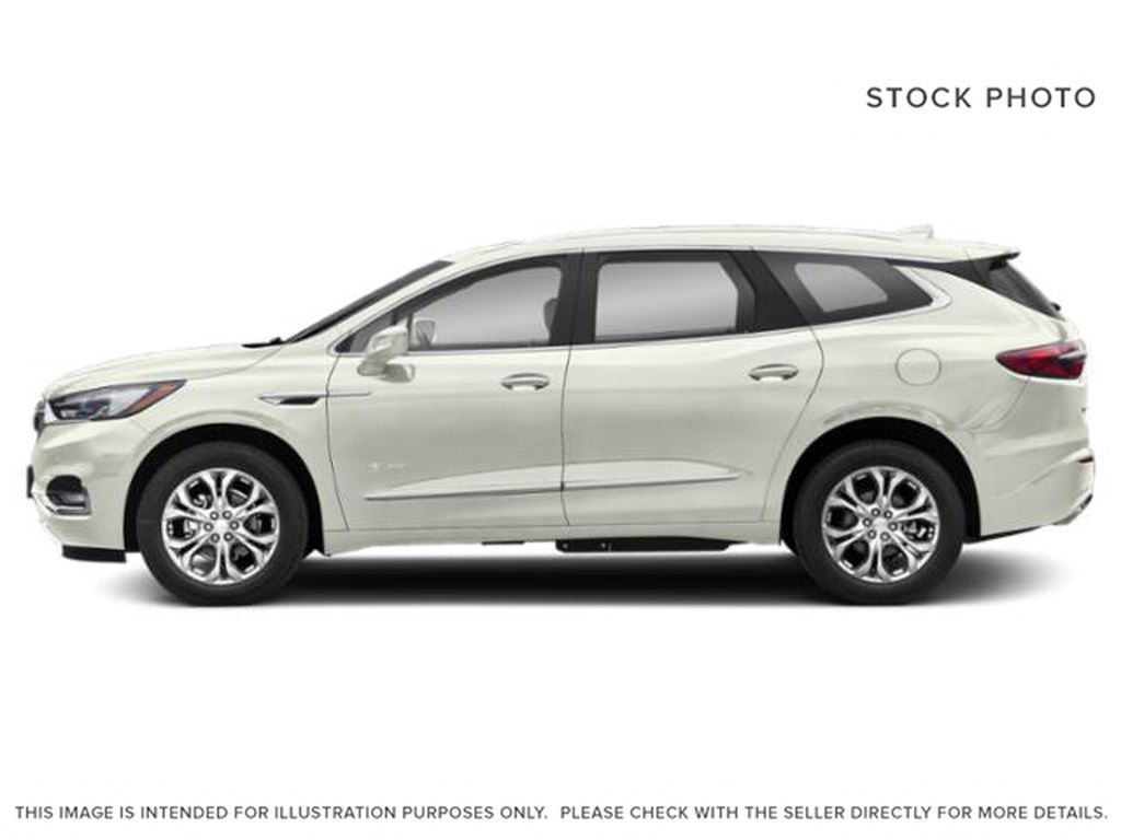 White[White Frost Tricoat] 2021 Buick Enclave Left Side Photo in Edmonton AB