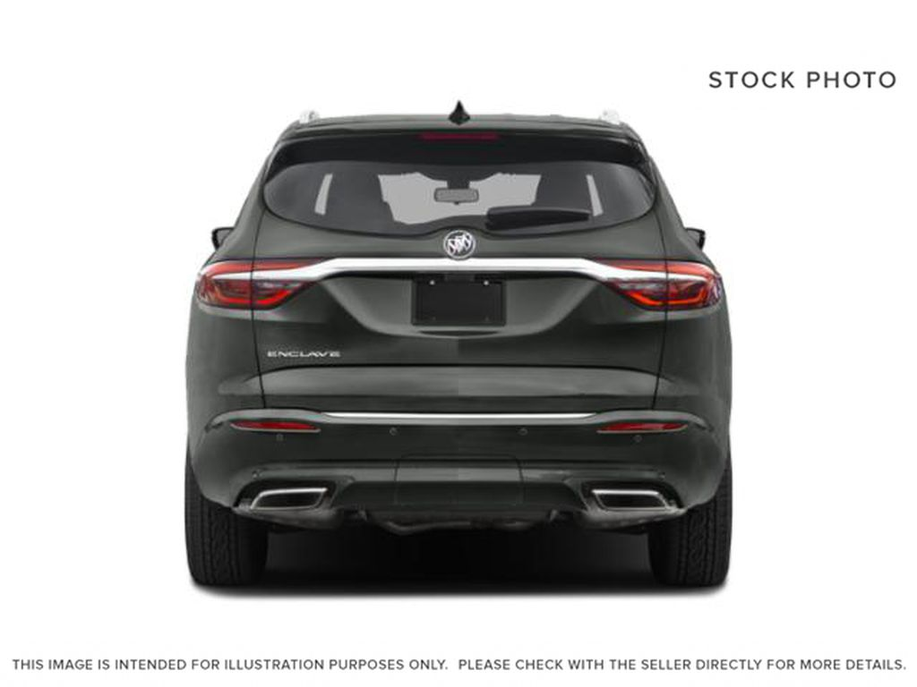 White[White Frost Tricoat] 2021 Buick Enclave Rear of Vehicle Photo in Edmonton AB