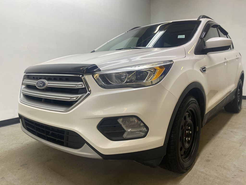 WHITE 2017 Ford Escape SE - Apple CarPlay, Backup Camera, NAV Left Front Head Light / Bumper and Grill in Edmonton AB