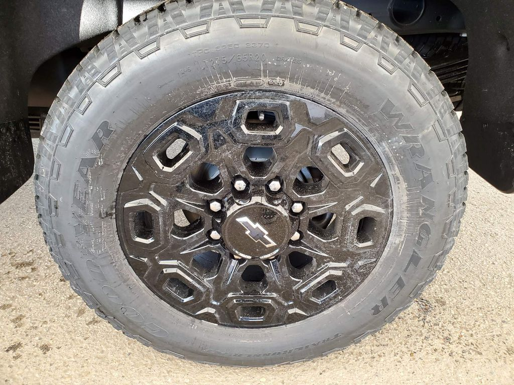 Blue 2021 Chevrolet Silverado 2500HD Rear of Vehicle Photo in Airdrie AB