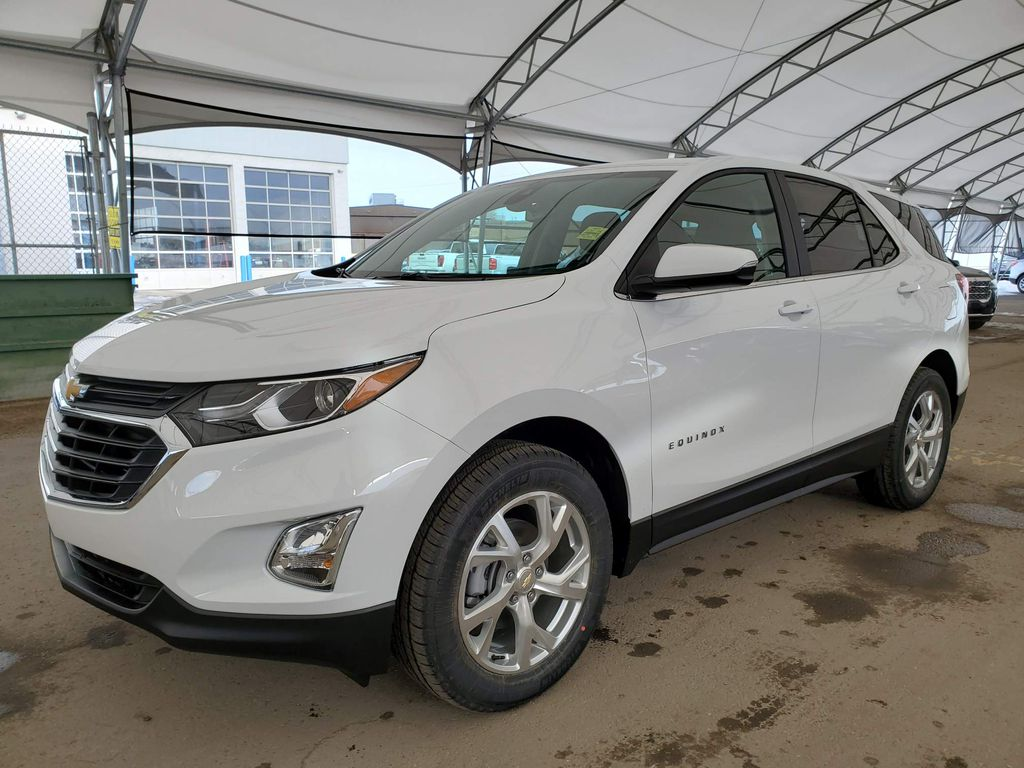 White 2021 Chevrolet Equinox Steering Wheel and Dash Photo in Airdrie AB