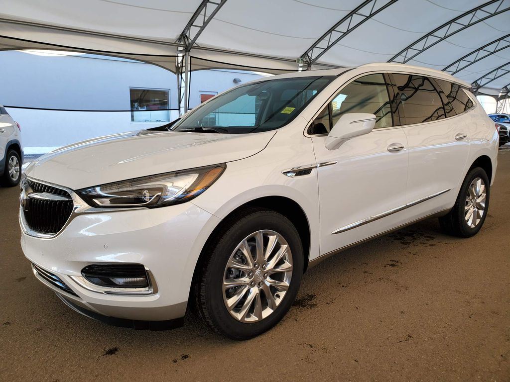 White 2021 Buick Enclave Backup Camera Closeup Photo in Airdrie AB
