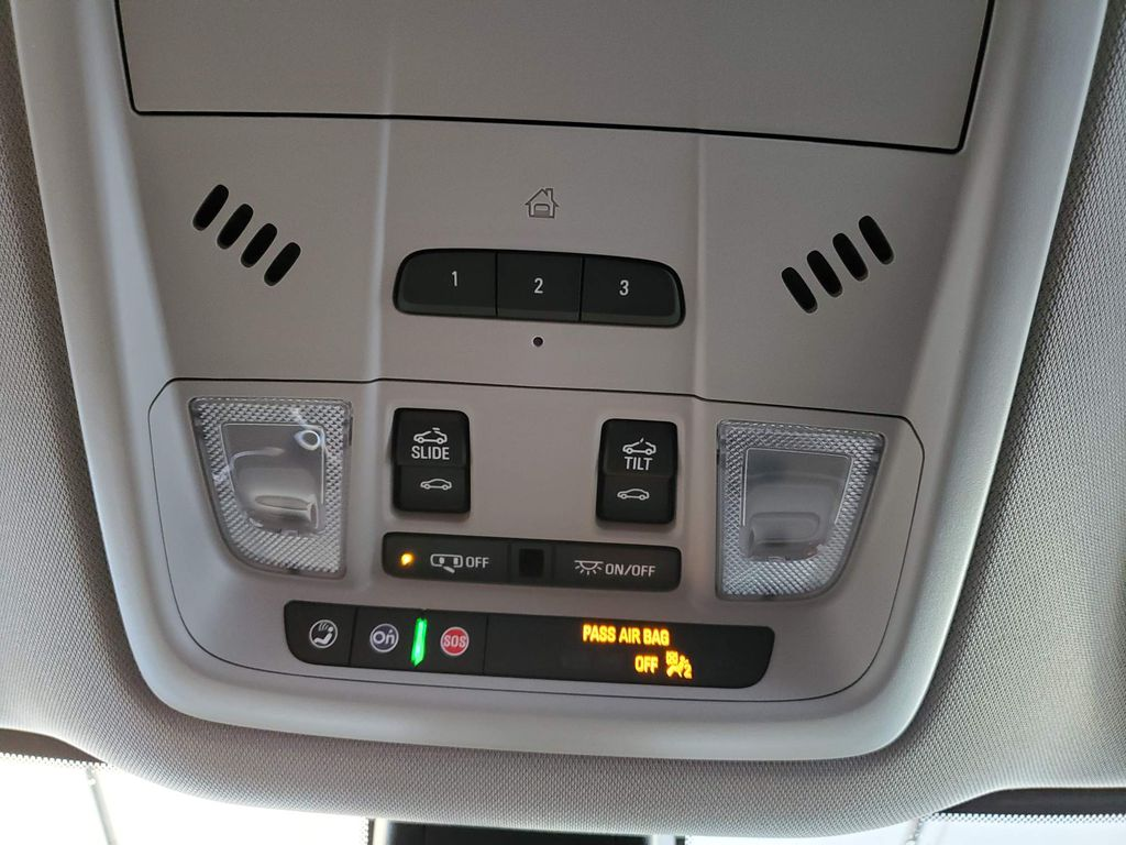 White 2021 Buick Enclave Radio Controls Closeup Photo in Airdrie AB