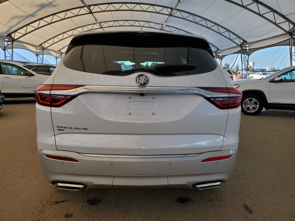 White 2021 Buick Enclave Right Rear Corner Photo in Airdrie AB