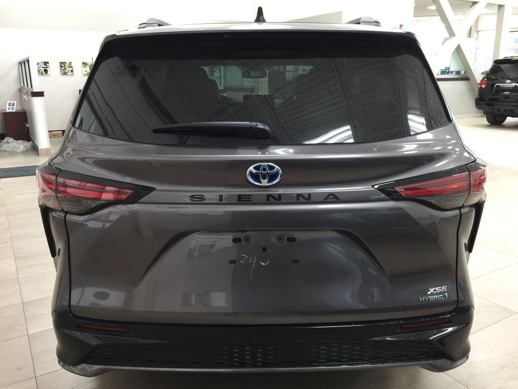 Gray[Predawn Gray Mica] 2021 Toyota Sienna XSE Hybrid FWD Rear of Vehicle Photo in Sherwood Park AB