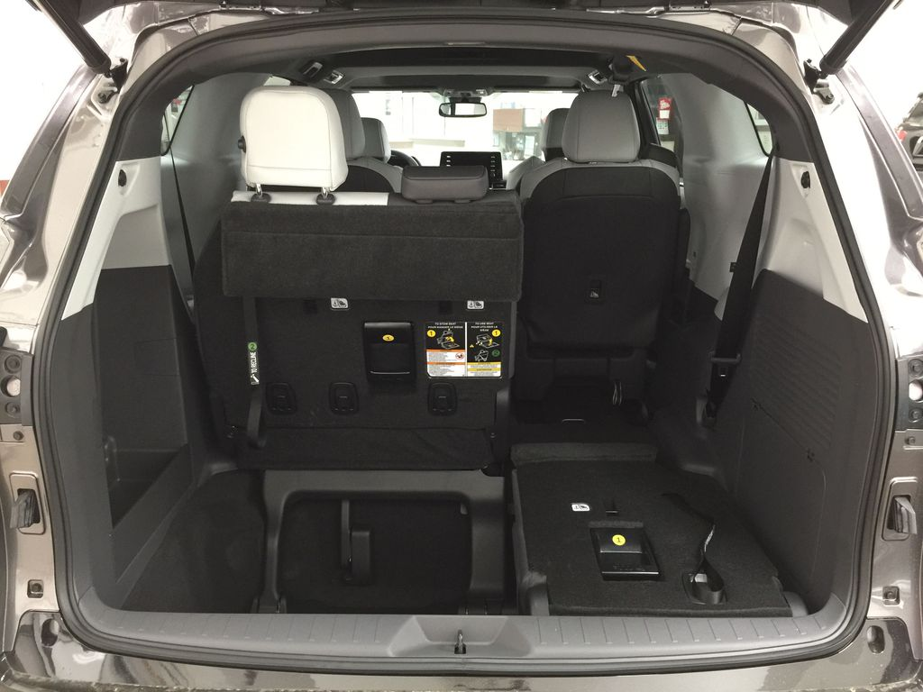 Gray[Predawn Gray Mica] 2021 Toyota Sienna XSE Hybrid FWD Cargo Area/Rear Seats Photo in Sherwood Park AB