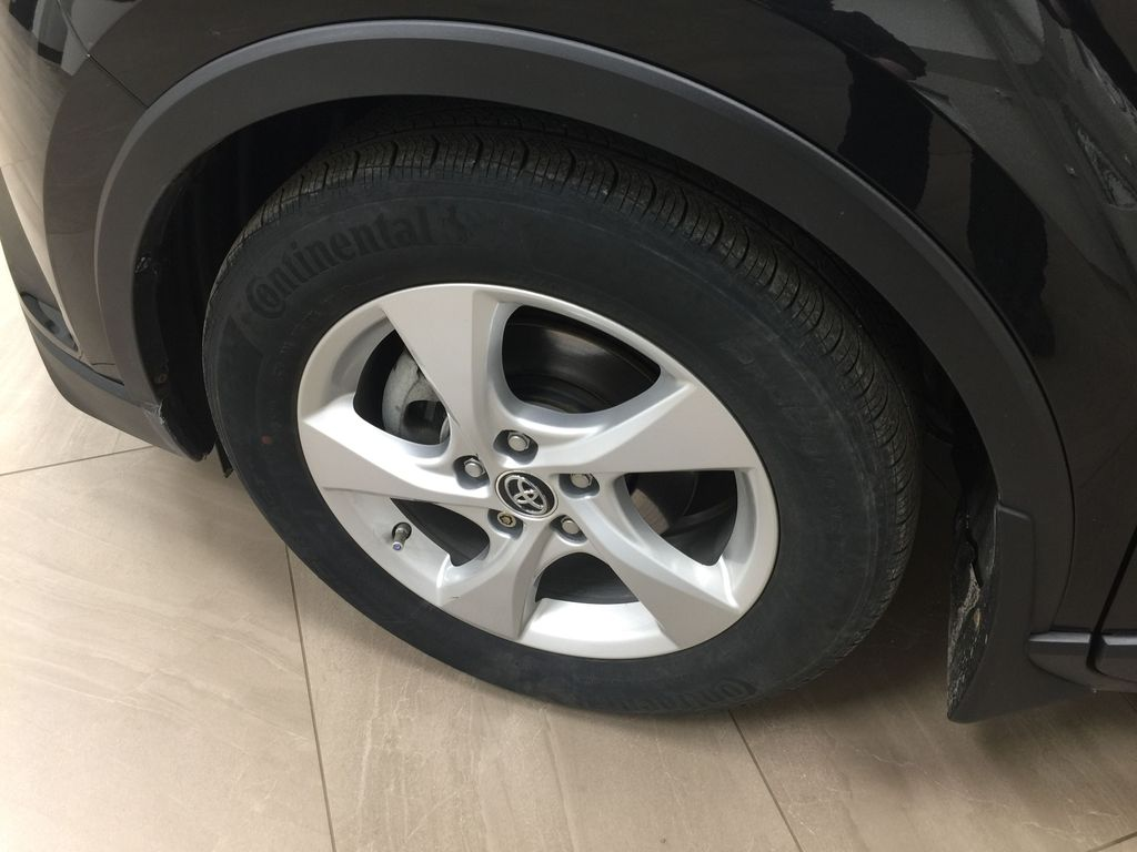 Black[Black Sand Pearl] 2018 Toyota C-HR XLE Left Front Rim and Tire Photo in Sherwood Park AB