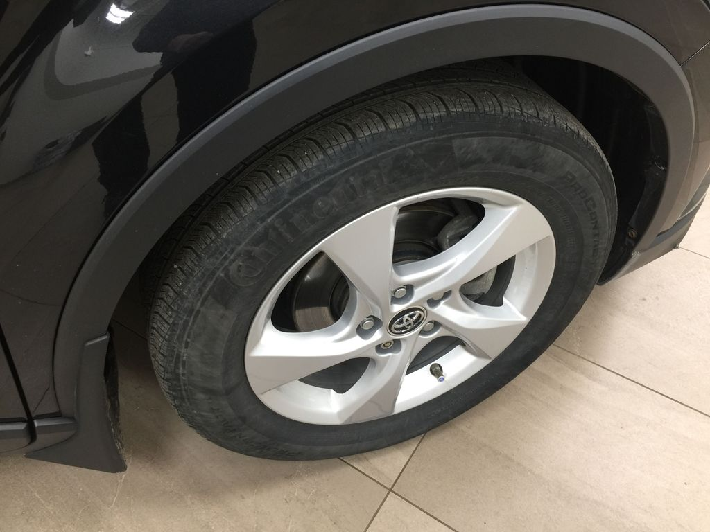 Black[Black Sand Pearl] 2018 Toyota C-HR XLE Right Front Rim and Tire Photo in Sherwood Park AB