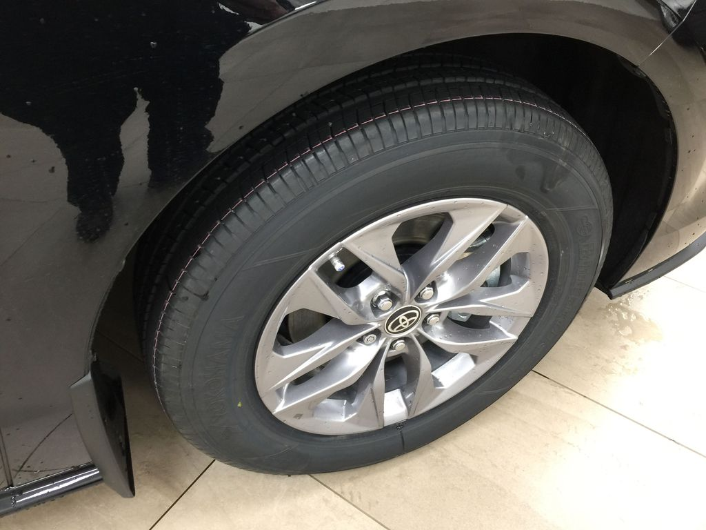 Black[Midnight Black Metallic] 2021 Toyota Sienna LE Hybrid FWD Right Front Rim and Tire Photo in Sherwood Park AB