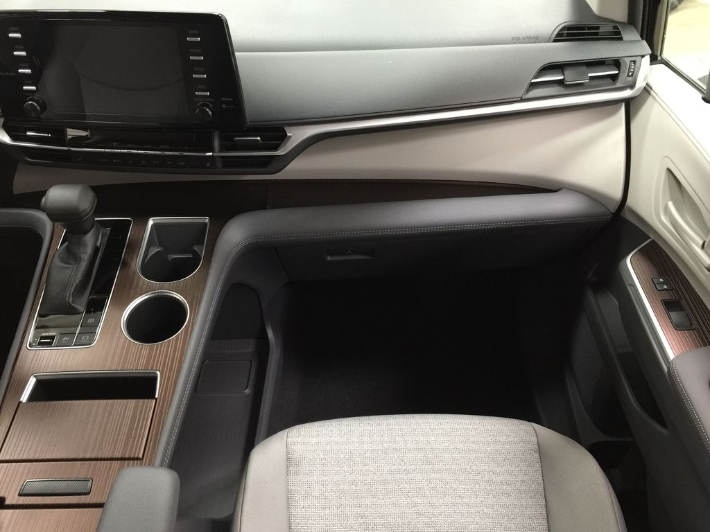 Black[Midnight Black Metallic] 2021 Toyota Sienna LE Hybrid FWD Right Front Seat Photo in Sherwood Park AB