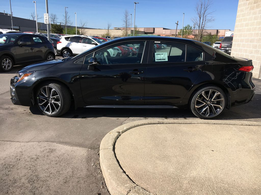 Black[Black Sand Pearl] 2021 Toyota Corolla SE Upgrade Package B4RBSC BM Engine Compartment Photo in Brampton ON