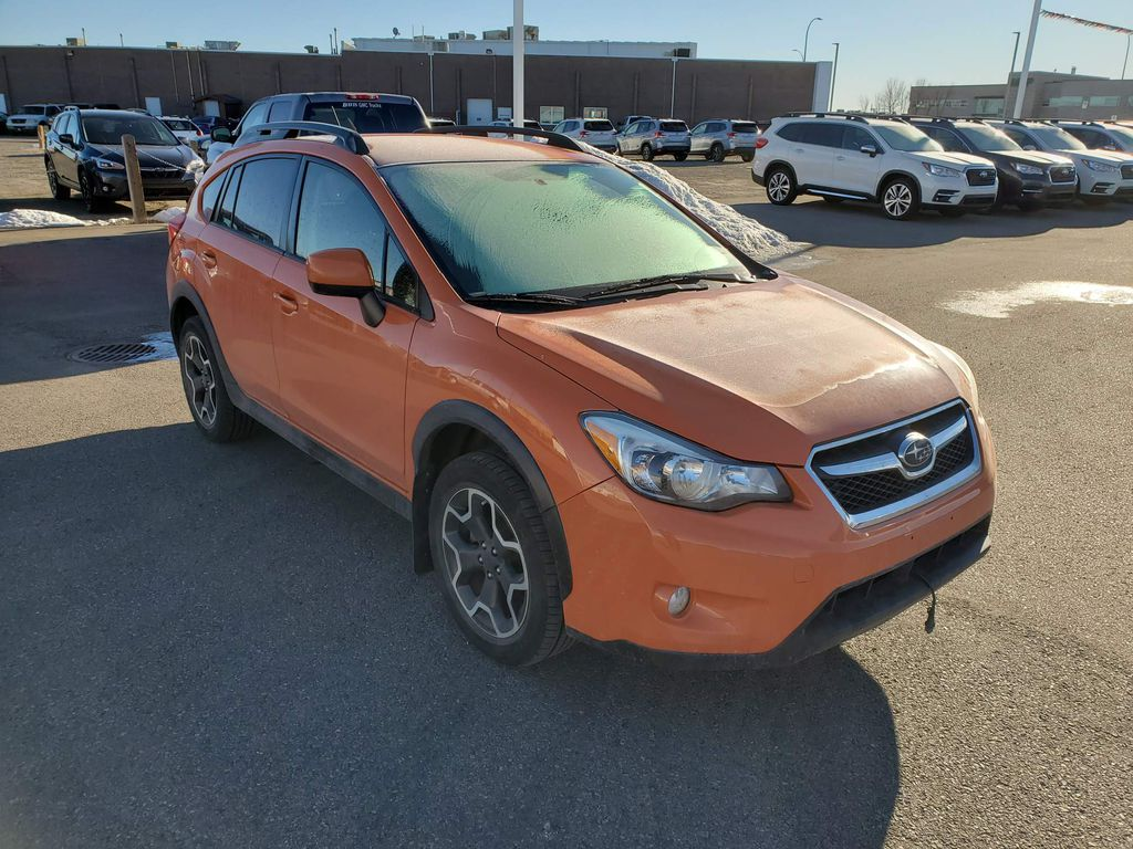 Orange 2014 Subaru XV Crosstrek Left Front Corner Photo in Lethbridge AB