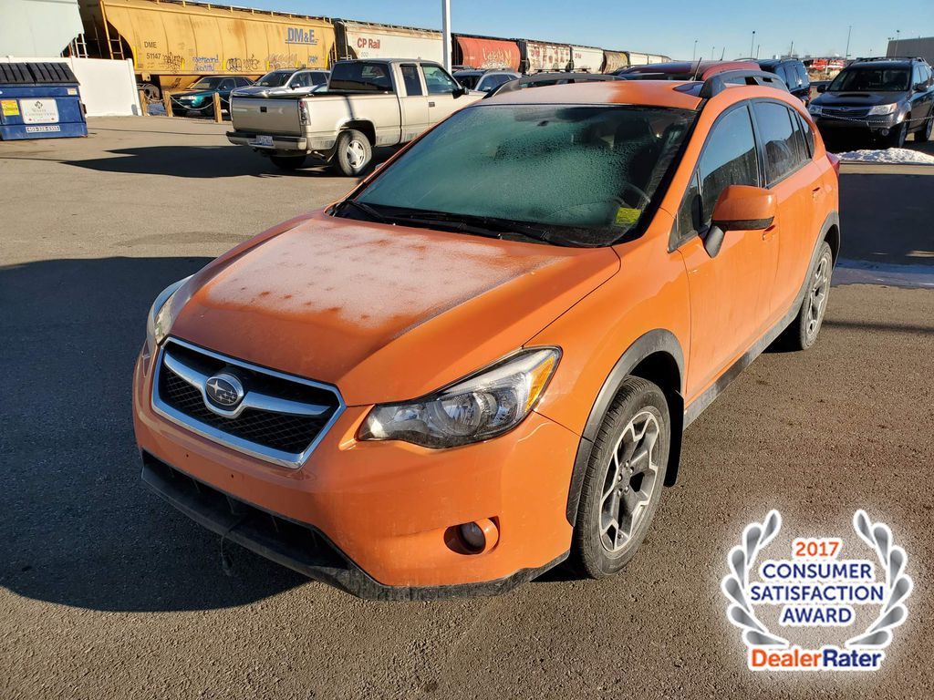 Orange 2014 Subaru XV Crosstrek