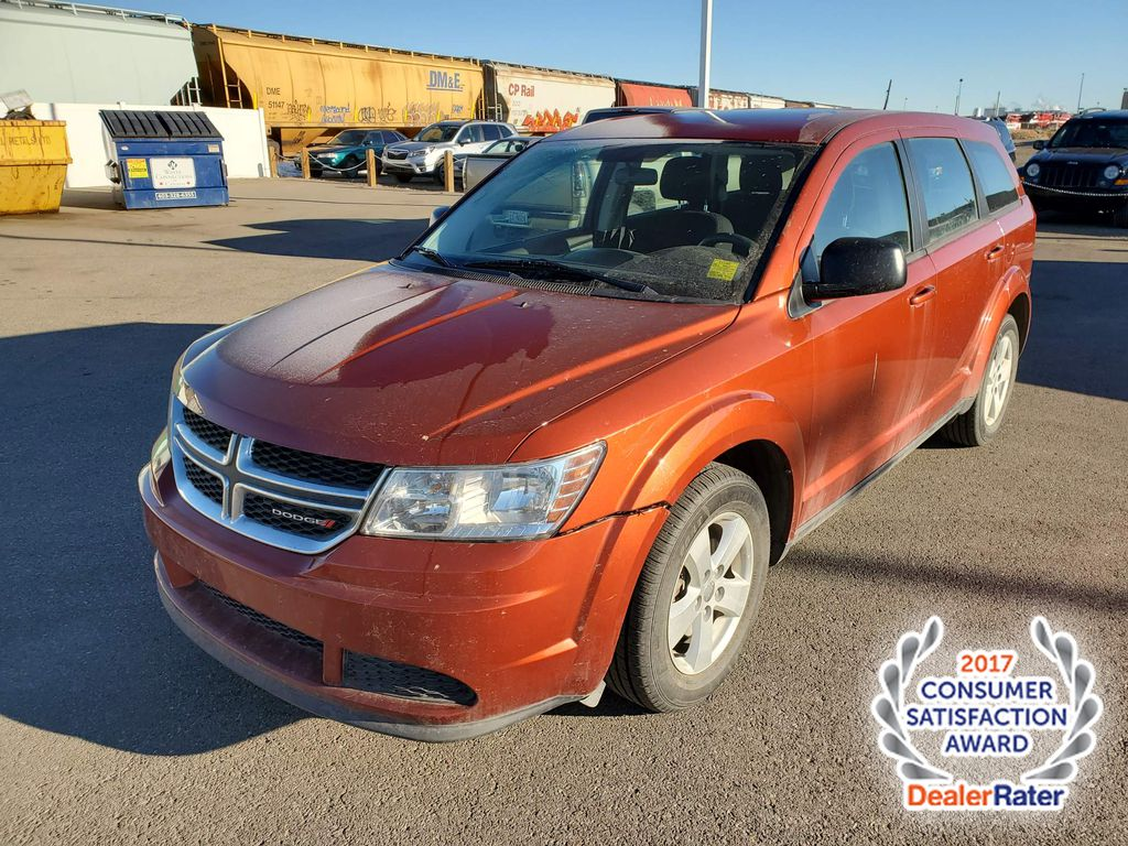 Orange 2013 Dodge Journey