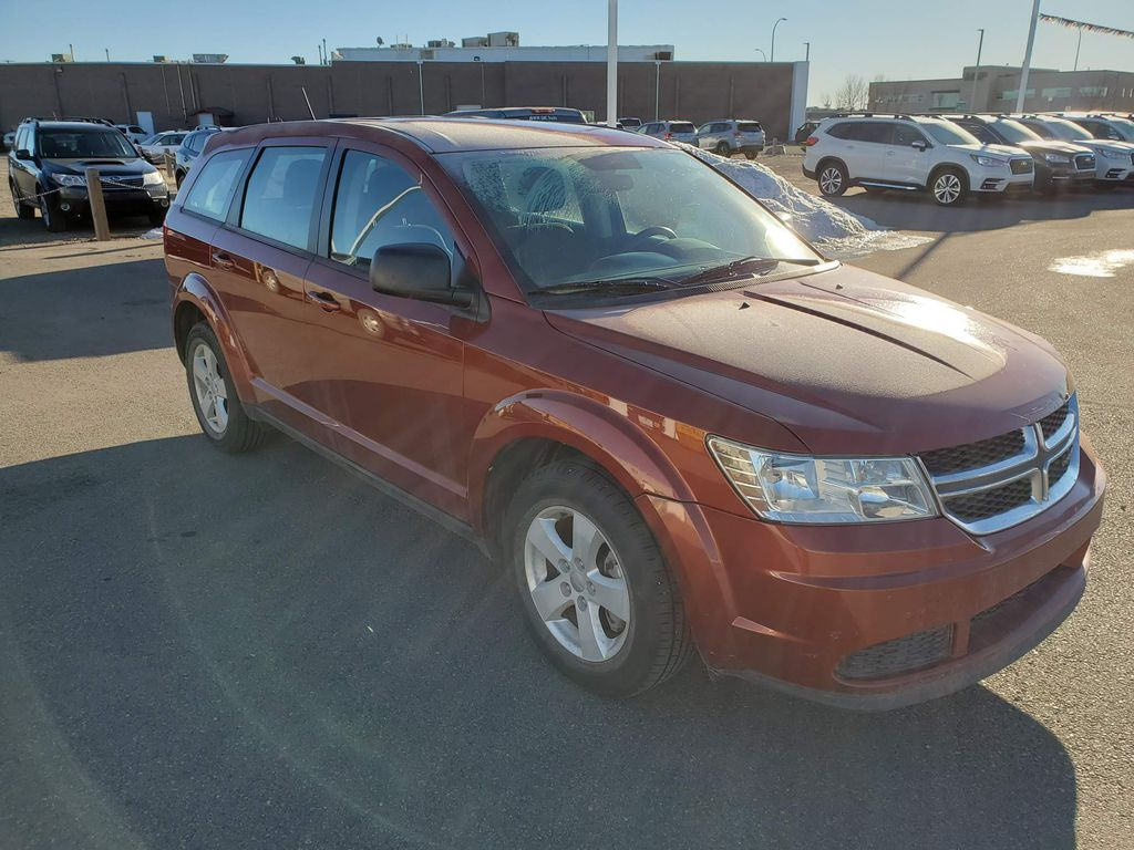 Orange 2013 Dodge Journey Left Front Corner Photo in Lethbridge AB