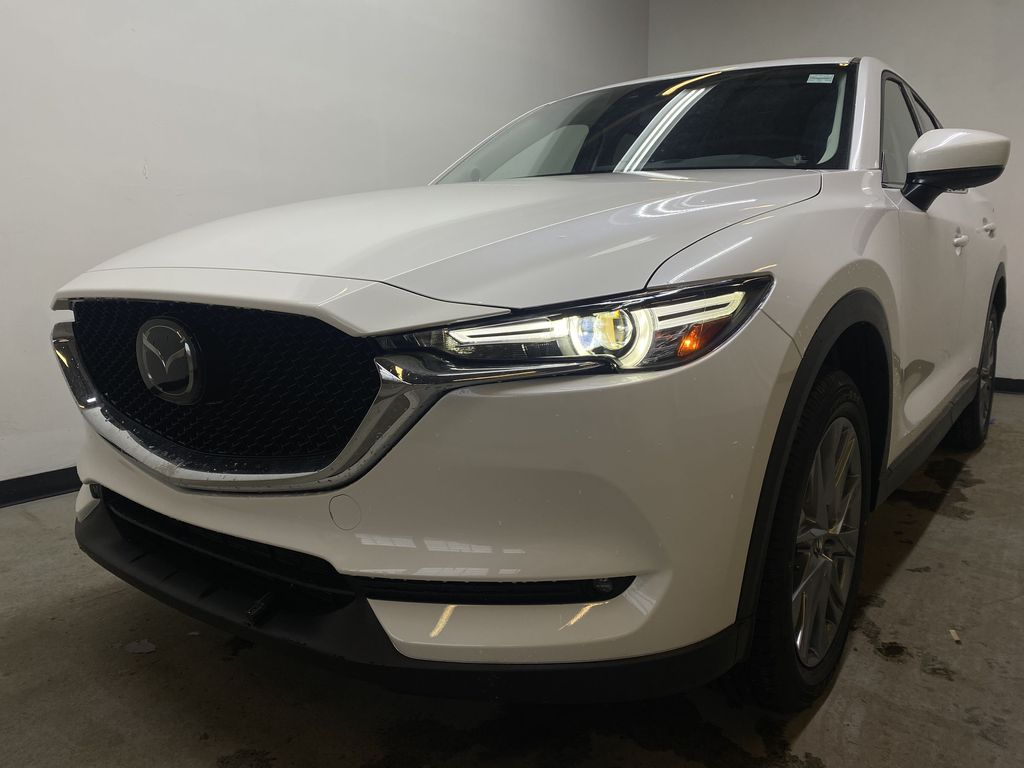 SNOW FLAKE WHITE PEARL(25D) 2021 Mazda CX-5 GT Turbo Left Front Head Light / Bumper and Grill in Edmonton AB
