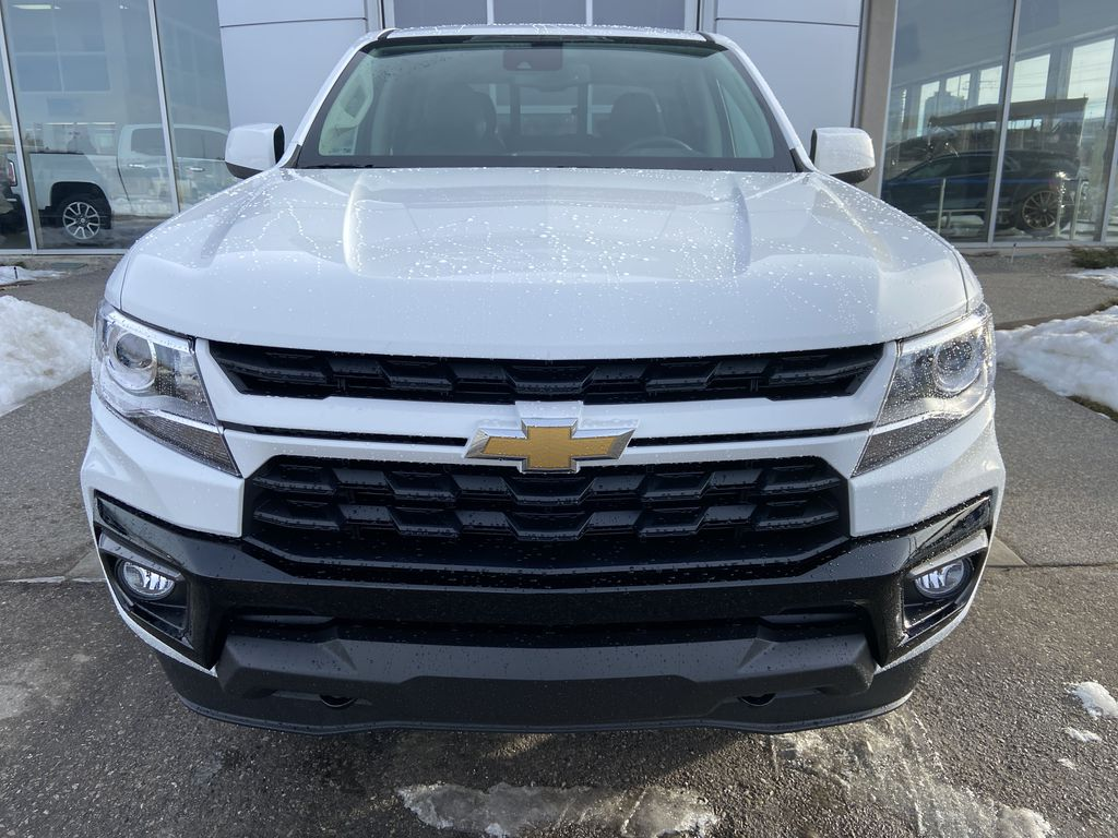 White[Summit White] 2021 Chevrolet Colorado LT Front Vehicle Photo in Calgary AB