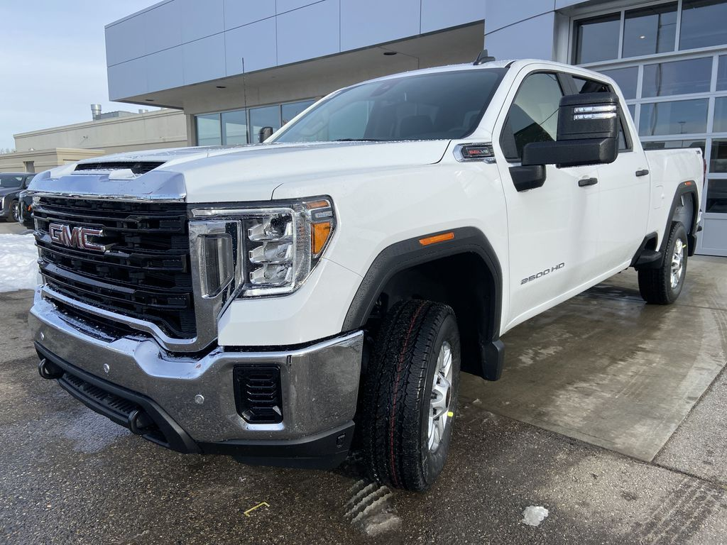 White[Summit White] 2021 GMC Sierra 2500HD SLT Left Front Head Light / Bumper and Grill in Calgary AB