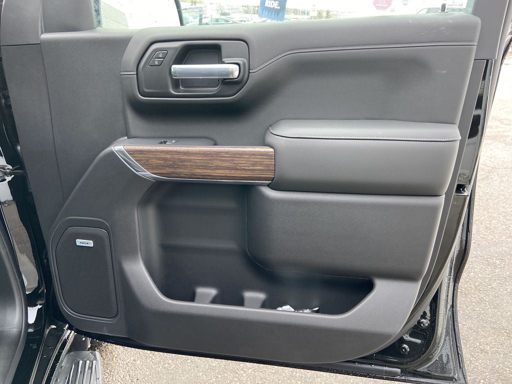 Black[Black] 2021 Chevrolet Silverado 1500 High Country Right Front Interior Door Panel Photo in Calgary AB