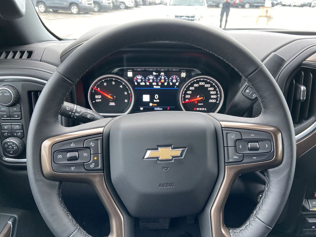 Black[Black] 2021 Chevrolet Silverado 1500 High Country Steering Wheel and Dash Photo in Calgary AB
