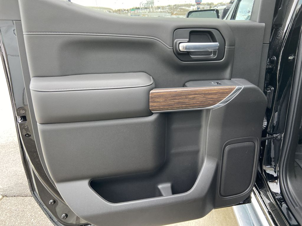 Black[Black] 2021 Chevrolet Silverado 1500 High Country Left Rear Interior Door Panel Photo in Calgary AB