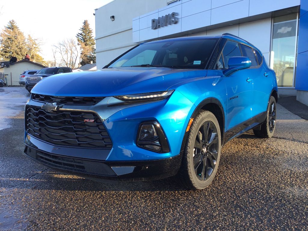 Blue 2021 Chevrolet Blazer