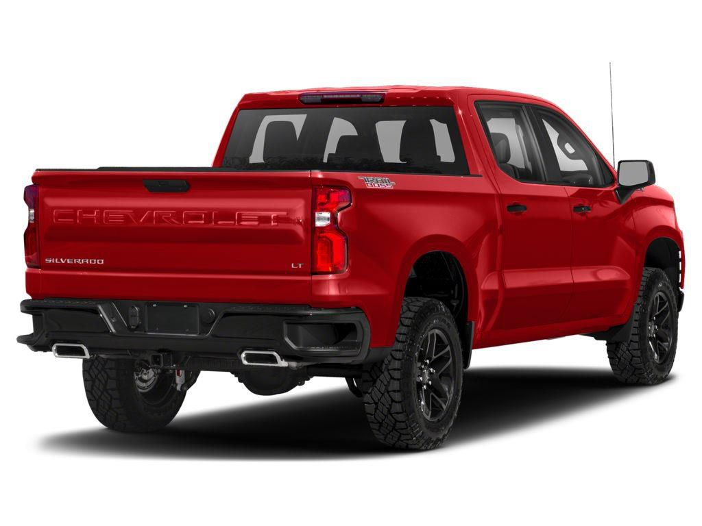 Red 2021 Chevrolet Silverado 1500 Left Front Rim and Tire Photo in Brooks AB