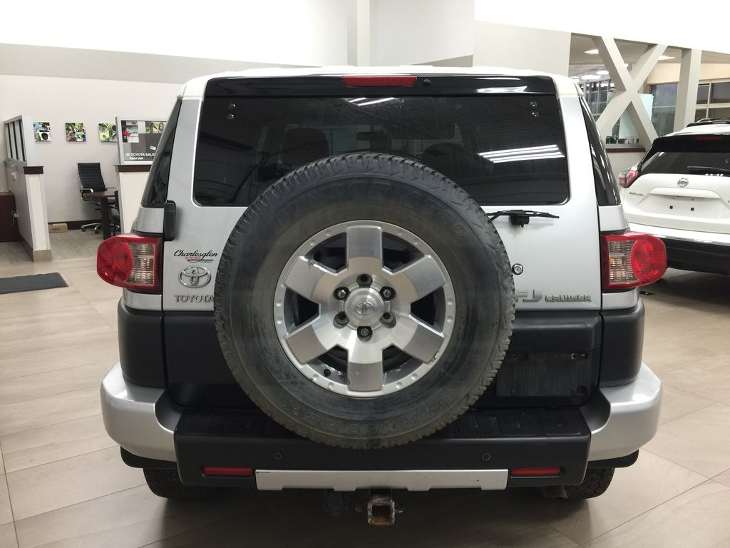 Silver[Titanium Silver] 2007 Toyota FJ Cruiser Manual Trans Rear of Vehicle Photo in Sherwood Park AB