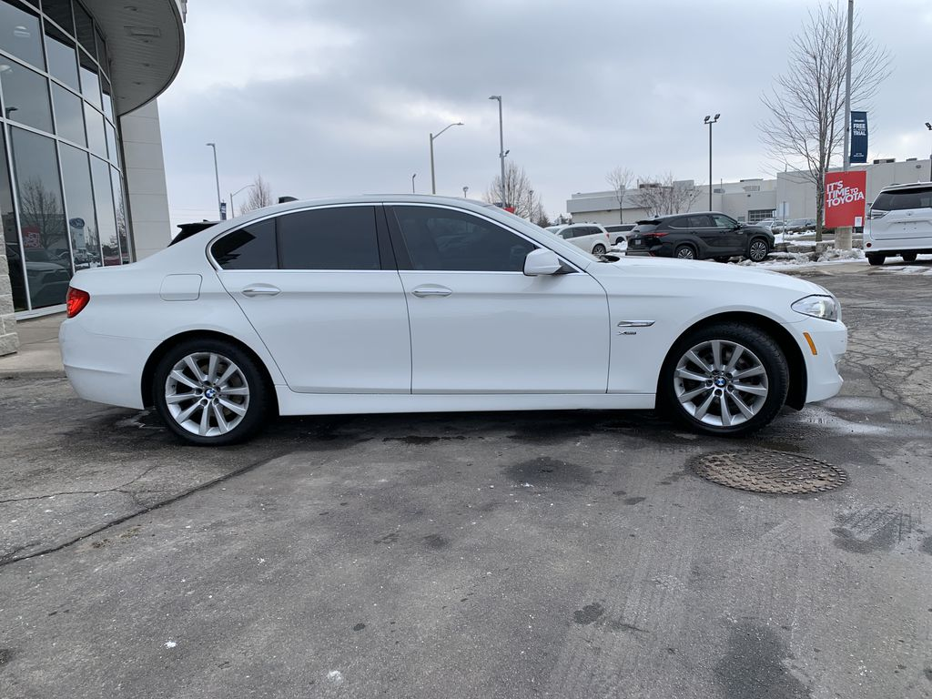 White[Alpine White] 2012 BMW 5 Series Front Vehicle Photo in Brampton ON