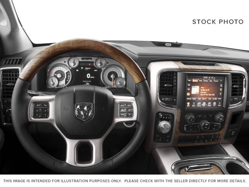 Green[Black Forest Green Pearl] 2016 Ram 1500 Steering Wheel and Dash Photo in Fort Macleod AB